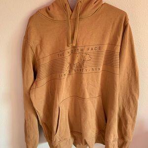 north face orange hoodie xL